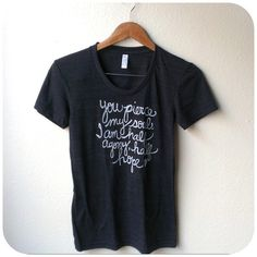 Small Jane Austen Quote/Persuasion Ladies' Tee. MADE TO ORDER on Etsy, $25.00