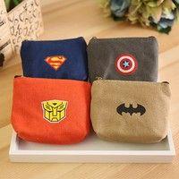 Material: Cotton Color:Captain America, Transformers, Batman, Superman Size:10*0.9cm