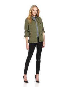 VELVET BY GRAHAM & SPENCER Women's Army Jacket, Forest, Petite Velvet by Graham & Spencer http://www.amazon.com/dp/B00A29A4UA/ref=cm_sw_r_pi_dp_whgOtb1FSNCEF02N