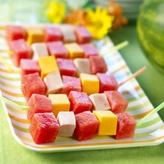 Watermelon Board | Watermelon Kebobs (what a refreshing snack)!