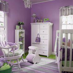 We love the purple theme in this #nursery!