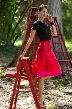 Midnight Lights Skirt Red