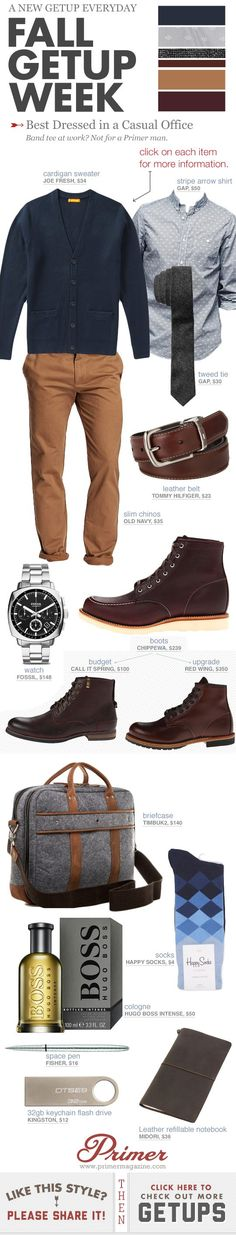 The Getup Best Dressed in a Casual Office Primer is part of Mens outfits - Band tee at work Not for a Primer man Nice Dresses, Casual Dresses, Casual Outfits, Fashion Dresses, Business Casual Men, Men Casual, Smart Casual, Casual Fall, Casual Wear