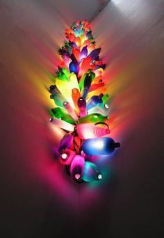 Candella 2006 Plastic bottles, low energy lamps, cable 120 x 45 x 45 cm