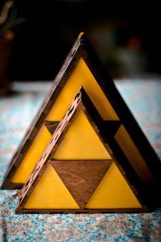 Zelda Triforce Lamp MINI HYRULE LOGO by TheBackPackShoppe on Etsy