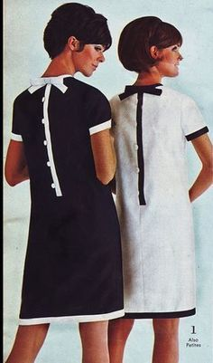 fashion history for women. A return to youth, shocking colors, shorter hemlines, pop art and the hippie movement. What did women wear? 60s And 70s Fashion, Mod Fashion, Trendy Fashion, Vintage Fashion, 1960s Fashion Women, Dress Fashion, Modern 60s Fashion, Club Fashion, Sporty Fashion