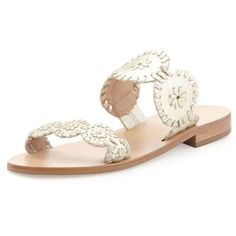 Jack Rogers Lauren Double-Strap Sandal (38.130 HUF) ❤ liked on Polyvore featuring shoes, sandals, jack rogers, platinum, metallic shoes, metallic flat sandals, low heel sandals and small heel shoes