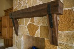 Distressed, Rustic, Wood Mantle   Rustic Fireplace