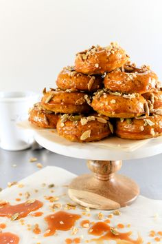 Salted Apple Caramel Bourbon Glazed Donuts | Recipe | Bourbon, Donuts ...