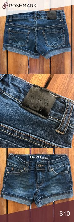 DKNY Girls Hipster Jean Shorts Size 4 DKNY Bottoms Shorts