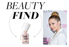 """The Beauty Find: Benefit High Beam Face Highlighter"" by polyvore-editorial ❤ liked on Polyvore"