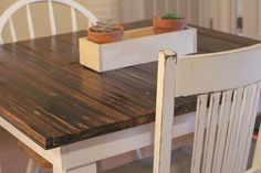 DIY Rustic kitchen table.