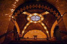 A subway station underneath New York's City Hall is now a 'ghost' terminal having been abandoned