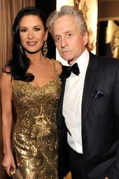 Catherine Zeta-Jones and Michael Douglas, 2013 Vanity Fair Oscar Party