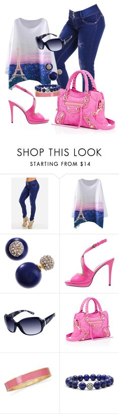 """""""Casual"""" by alice-fortuna ❤ liked on Polyvore featuring Journee Collection, Versace, Nicole By Nicole Miller, Balenciaga, BillyTheTree and Lagos"""