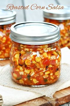 Corn Salsa Recipe Canning, Canning Corn, Canning Tips, Roasted Salsa Recipe, Sweet Corn Salsa, Salsa With Corn, Canning Vegetables, Veggies, Canning Recipes