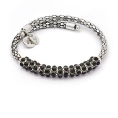 Bohemia Spontaneity Black Crystal Wrap Bangle Bracelet, Rhodium Silver Plated >>> Find out more about the great product at the image link. (This is an affiliate link and I receive a commission for the sales)
