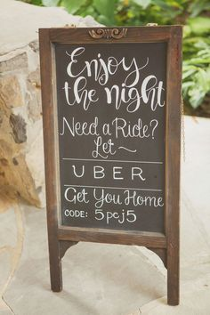 Get your guests home safe with a custom uber code #cedarwoodweddings