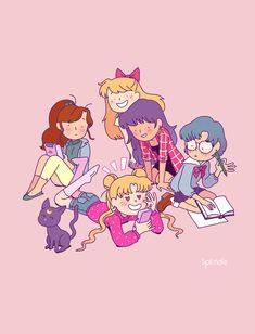 (Sailor Moon) Inner Scouts and Luna