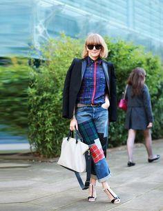 Alex Fullerton wears Zara jacket, Preen shirt, Junya Watanabe jeans, Celine sunglasses, Sophia Webster shoes, Chloe bag.