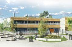 Ecole Delta à Teich : Restructuration complète et extension de l'école élémentaire.   Maître d'ouvrage : Communauté d'Agglomération du Bassin d'Arcachon Sud (COBAS)  Maîtrise d'oeuvre : Agence FABRIQU'A, Architectes BET LIGNES - VIVIEN - ETBA - CESMA - E=mc2 (Economie)