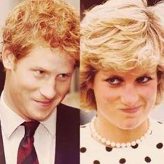 Prince Harry and Princess Diana. Like mother, like son! Princess Diana Family, Prince And Princess, Princess Charlotte, Royal Prince, Prinz Charles, Prinz William, Prince William And Harry, Prince Harry And Megan, Prince Henry