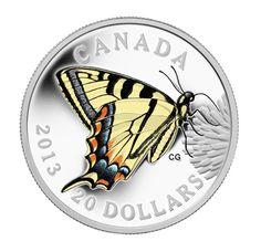 Pièce en argent fin - Papillons du Canada : Le papillon tigré - Tirage : 10 000 (2013)
