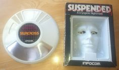 """Infocomm's Starcross and Suspended packaging for CP/M on 8"""" floppy"""