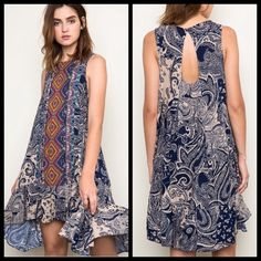 Tribal Hi Lo Dress Small 100% Rayon, BNWT, Young Contemporary Fit BNWT Thanks For Looking! ⛔️PP/Trades  ✅Offers Considered ✅Bundle Discounts April Spirit Dresses High Low