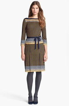 Tory Burch 'Denise' Crepe Jersey Sheath Dress available at #Nordstrom           I Just preordered this Dress.