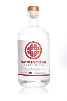 Mackintosh Gin is an Angus produced and bottled premium London Dry gin. Distilled in batches of less than 300 bottles with a bouquet of nine botanicals including fresh grapefruit and locally foraged elderflower. Tonic Water, Gin And Tonic, Gin Bottles, Vodka Bottle, Bottle Labels, Beer Labels, Scottish Gin, Premium Gin, Gin Tasting