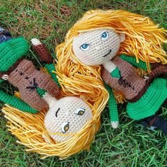The twins are enjoying the nice weather out today! Do you like Isabel (blue eyes) or Katsa (gold eyes) more?  #crochels #etsygifts #etsyfinds #etsyseller #etsyforall #supporthandmade #handmade #smallbusinesslove #supportsmallbusinesses  #handmadeatamazon #goteamflourish #kawaiicrochet #fantasy #fantasyworld #geekery #enchanted #fantasylife #elves #elven #dollstagram #fantasydolls #archery #crochetplush #crochetdoll #intothewoods #woodland #enchantedforest #fantasycreature #ethereal #elvish