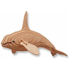 3-D Wooden Puzzle - Killer Whale -Affordable Gift for your Little One! Item #DCHI-WPZ-H008