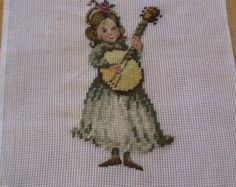 Vintage pre-worked needlepoint. Large by LegacyTextileCrafts