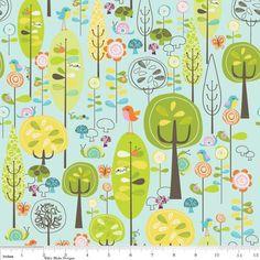 """Designer: Riley Blake  Kollektion: """"Happier""""    Reine Baumwolle bedruckt. Wunderbar weiche, hochw"""