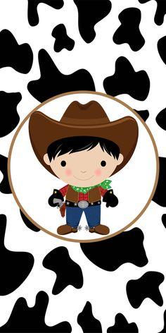 Clique na imagem para amplia-lá e só depois salve em seu computador, abra as artes em uma programa de edição e acrescente nelas o texto.Dep... Cowboy Theme Party, Cowboy Birthday Party, Farm Animal Birthday, Farm Birthday, Farm Party, Cowboy Baby, Cowboy And Cowgirl, Baby Book Pages, Hello Kitty