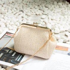 Small rattan bag women crossbody wicker hand-bag straw Shoulder bag for women boho bag ladies evening beach handbag clutch - Bag Women, Travel Bags For Women, Straw Handbags, Boho Bags, Types Of Bag, Beach Wear, Small Bags, Fashion Handbags, Evening Bags