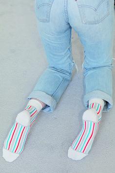 Striped Socks, Made In France, Stripes, Sandals, Alaska, Shoes, Style, Fashion, Socks