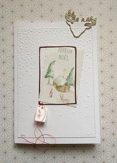 Xmas Card 2016 (Renke) Christmas Card Crafts, Xmas Cards, Christmas Greetings, Diy Cards, Handmade Christmas, Holiday Cards, Christmas Holidays, Cardmaking, Stamping