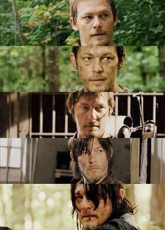 Five seasons of Daryl  He was cute before now he is hot.