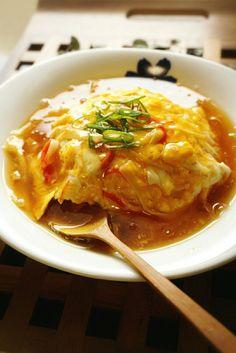 *これはハマる!120円de王将風☆天津飯* | 栄養士*misacoro*のおいしいブログ Soup Recipes, Diet Recipes, Cooking Recipes, Cafe Food, Food Menu, Asian Recipes, Ethnic Recipes, Japanese Dishes, Healthy Eating Tips