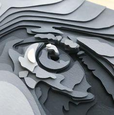 3d Paper Art, Paper Collage Art, Cardboard Paper, Paper Artwork, Paper Crafts, Cut Out Art, Science Art, Art Challenge, Fantastic Art