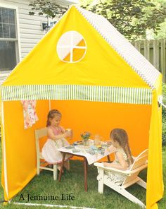 PVC Playhouse and Sunshade {create memories with kids} - The Girl Creative