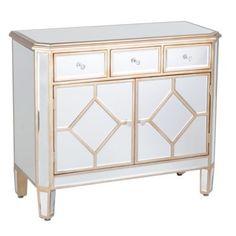 Manhattan Mirrored Wood Cabinet | Kirkland's