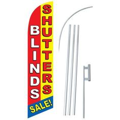 NeoPlex Blinds and Shutters Swooper Flag and Flagpole Set