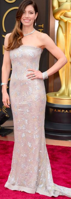 Jessica Biel | Chanel Couture | Oscars 2014 | The House of Beccaria#