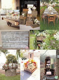 Our wedding mood boards have all sorts of great styling and wedding theme ideas. Use our mood boards to get inspiration for your wedding. Wedding In The Woods, Our Wedding, Dream Wedding, Garden Wedding, Rustic Shabby Chic, Rustic Elegance, Pallet Wedding, Rustic Wedding, Chic Wedding