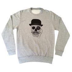 Suave Skull Sweatshirt #mo #tash #movember #moustache
