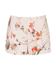 2437da4a8c9630 Botanical Bloom print short - Pale Pink