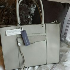 Rebecca Minkoff MAB Medium Ash Grey Leather Tote New with tags, Rebecca Minkoff MAB satchel,  includes dustbag! Beautiful bag for fraction of retail price! Rebecca Minkoff Bags Totes